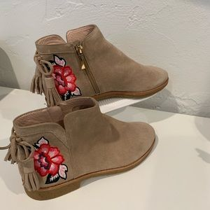 Kate Spade NY Bellville Floral Suede Ankle Boot 8m